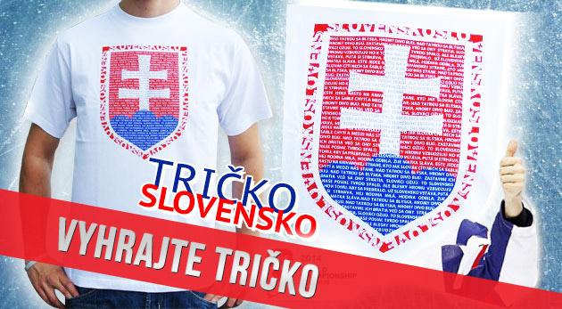 Súťaž o 3 tričká so slovenským znakom a textom hymny