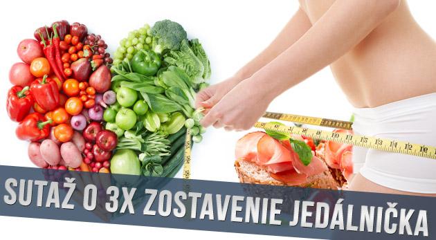 Súťaž o 3x zostavenie jedálnička na chudnutie online
