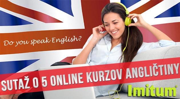 Súťaž o 5 ročných online kurzov angličtiny