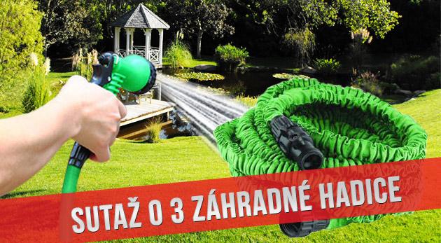 Súťaž o 3 elastické záhradné hadice s dĺžkou 15 m
