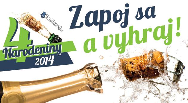 Súťaž - 4. Veľká narodeninová súťaž ZaMenej.sk  81daf4c7701