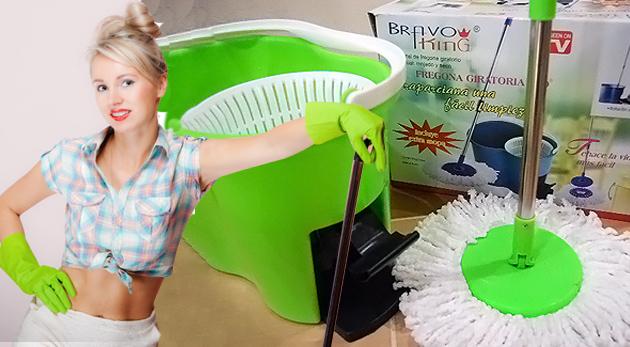 Súťaž o 2 ks pomocníka do domácnosti Magic Mop 360º s náhradnou textilnou hlavicou