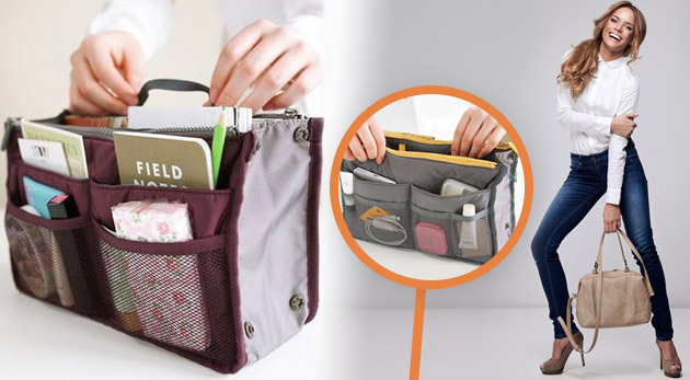 Súťaž o 3 bordové organizéry do kabelky vrátane poštovného