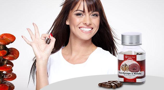 Súťaž o dva výživové doplnky KINGRAY® Cordyceps & Reishi