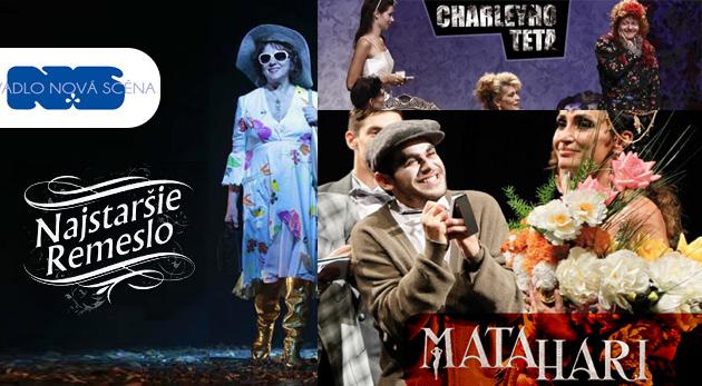 Súťaž o vstupenky na tri predstavenia Divadla Nová scéna v Bratislave