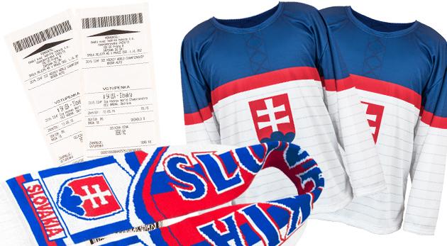 Súťaž o hokejový fun balíček - 2 dresy, šále a lístky na zápas Slovensko - Nórsko