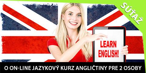 Súťaž o on-line jazykový kurz angličtiny pre 2 osoby