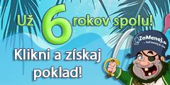 6. Veľká narodeninová súťaž ZaMenej.sk
