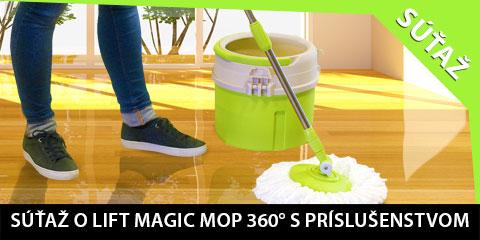 Súťaž o Lift Magic Mop 360° s textilnými hlavicami s mikrovláknom