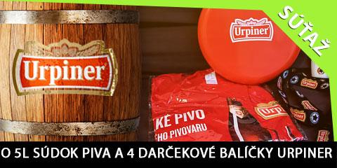 Súťaž o 5l súdok piva a 4 darčekové balíčky značky Urpiner