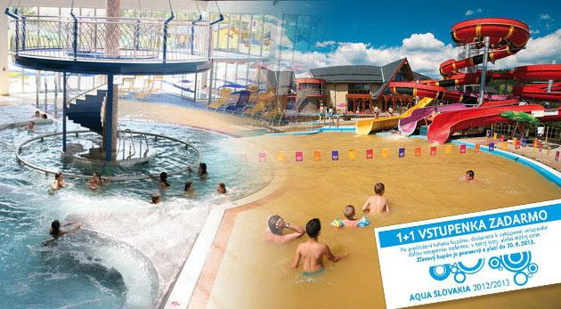 Súťaž o 3 lístky na celodenný vstup do aquaparkov na Slovensku aj v Čechách