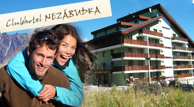 Súťaž o 3-dňový All Inclusive pobyt pre dvojicu v Clubhotel Nezábudka*** v Tatranskej Štrbe