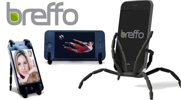 Súťaž o 5 držiakov na telefóny, GPS alebo MP3 prehrávače Breffo Spiderpodium