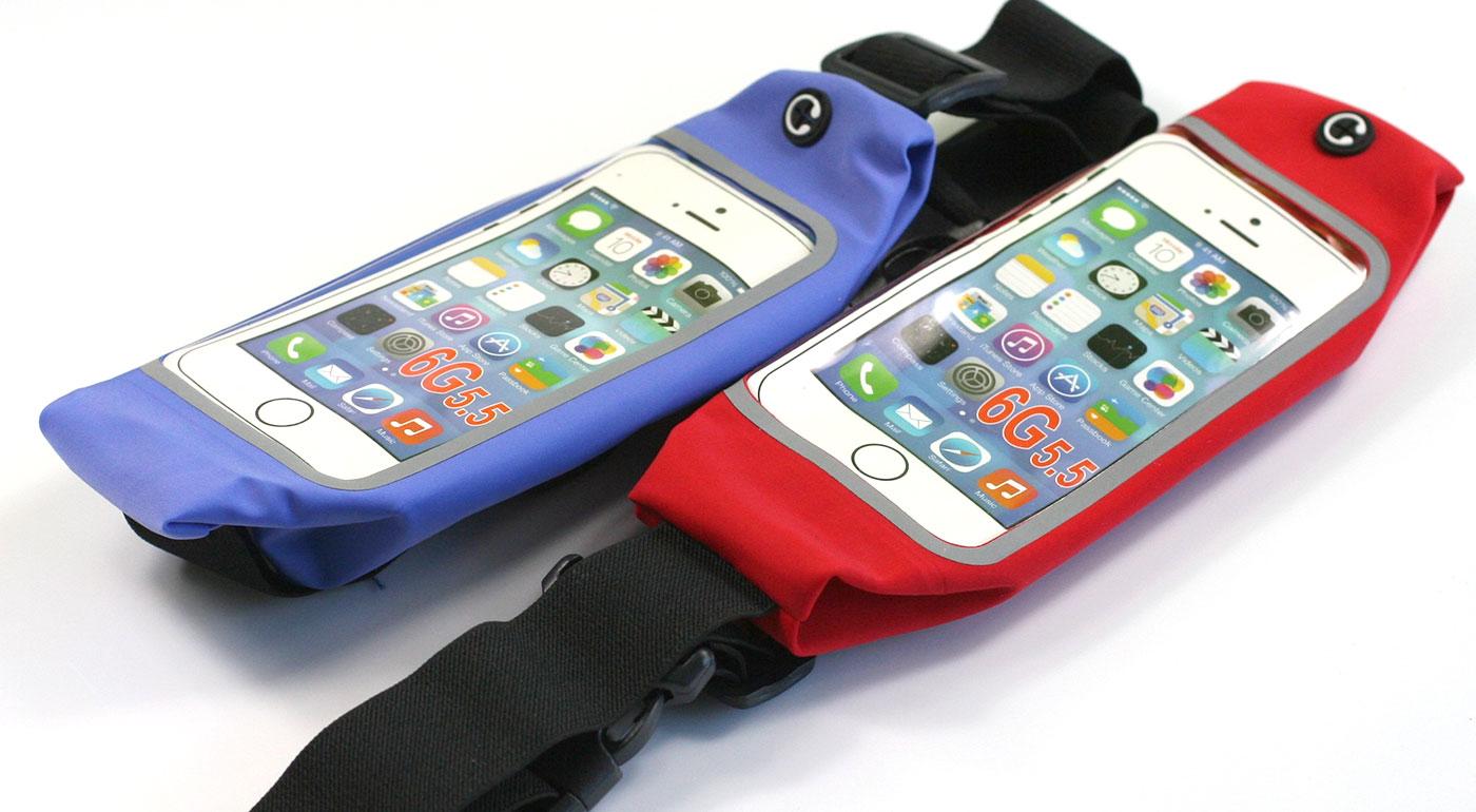 Súťaž o športové puzdro na mobil a drobnosti v modrej alebo červenej farbe