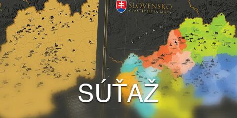 Súťaž o stieraciu vlastivednú mapu Slovenska s drevenými lištami