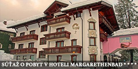 Súťaž o rozprávkový 3-dňový pobyt v Hoteli Margarethenbad**** v Alpách