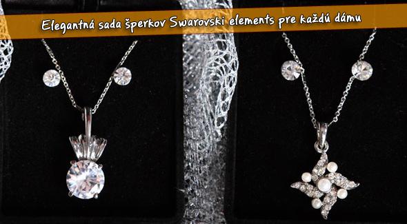 Darčekové balenie  sada šperkov Swarovski. Náušnice + prívesok s retiazkou. 5e77a2c1b4c
