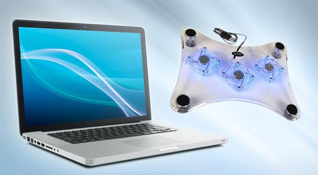 Zvýšte výkon svojho počítača - chladiaca podložka pod notebook s trendovým modrým podsvietením.