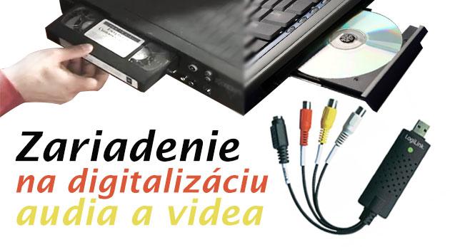 Zariadenie na digitalizáciu audia a videa LOGILINK USB 2.0 - prepis pásky VHS, audiokaziet a mini DV na DVD