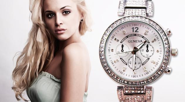 Dámske náramkové hodinky so zirkónmi a kryštálmi so Swarovski Elements 658b7482f39
