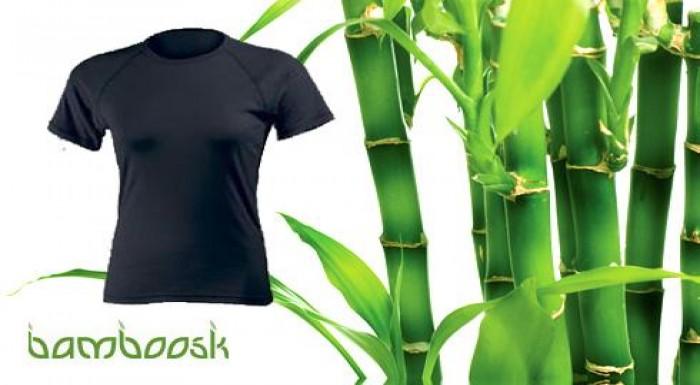 Tričká z bambusového vlákna v čiernom a bielom pre