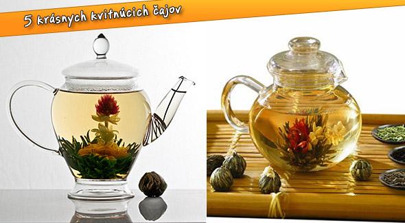 Balenie 5 kusov kvitnúcich čajov. Podarujte si krásu v čajníku.