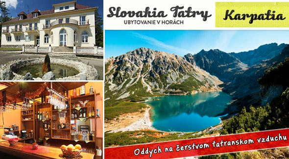 Zažite nezabudnuteľné leto vo Vysokých Tatrách v Penzióne Karpatia.