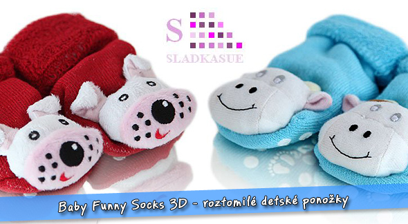Veselé detské ponožky - Baby Funny Socks 3D.  44d66b9fd6