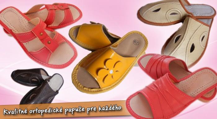 Kožené papuče: dámske, pánske i detské.