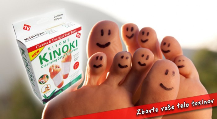 Detoxikačné náplaste KINOKI. Očista pre vaše telo.