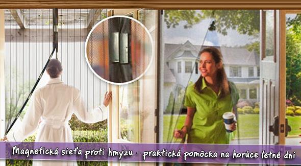 Magnetická sieťka na dvere proti hmyzu