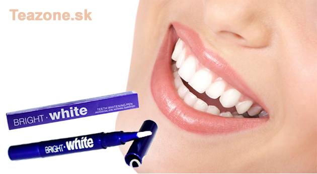 Prírodné bieliace pero na zuby bez obsahu peroxidu pre nádherný žiarivý úsmev