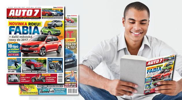 Predplatné motoristického časopisu AUTO 7 na rok alebo polrok