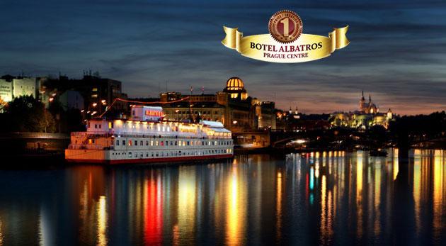 Ubytovanie v Prahe priamo na Vltave - Botel Albatros***