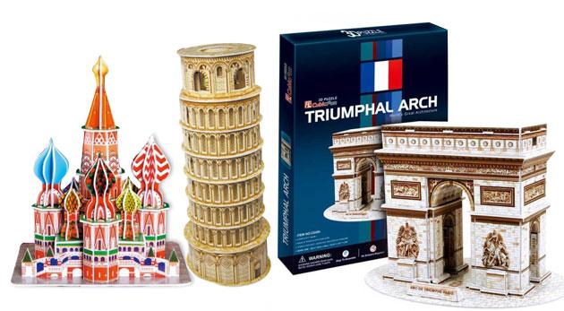 Skvelé 3D puzzle slávnych stavieb - vyberte si z 8 modelov!