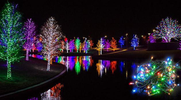 Vianočná atmosféra so 100 LED žiarovkami v dĺžke 10 m