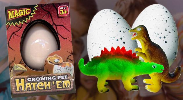 Tri kusy dinosaurích vajec - vychovajte si vlastného dinosaura!