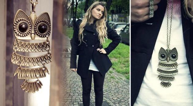 Prívesok sovičky s retiazkou - trendy dámsky šperk