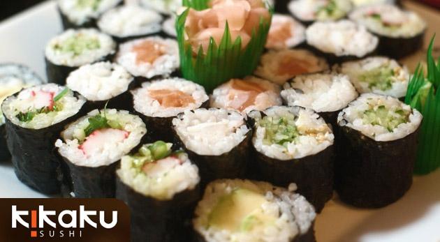 Lahodná japonská špecialita sushi set v Sushi bare Kikaku v Stupave