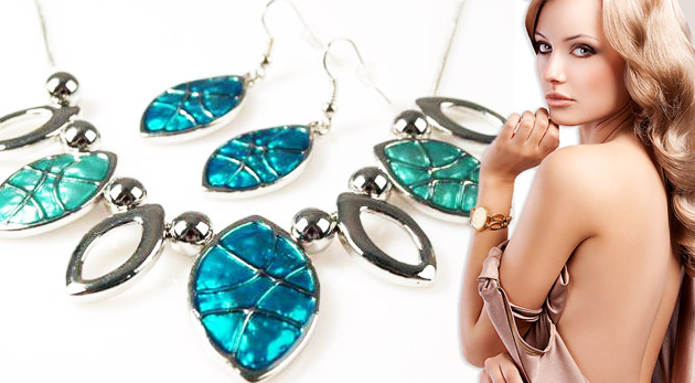 Sada šperkov Palermo - náhrdelník + náušnice, č. 2, farba: bordová za 4,49 €