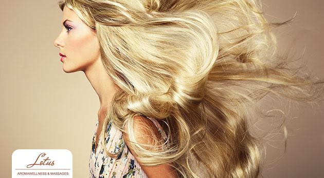 Umytie vlasov, ošetrenie sérom na revitalizáciu vlasov a pokožky hlavy, strihanie, vyfúkanie a konečný styling pre 1 osobu za 9,90€
