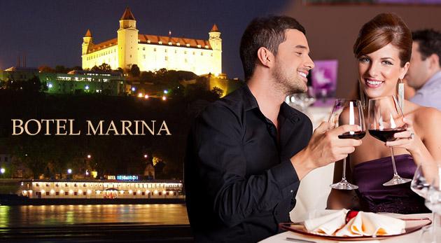 Netradičné ubytovanie v srdci Bratislavy - Botel Marina*** s polpenziou