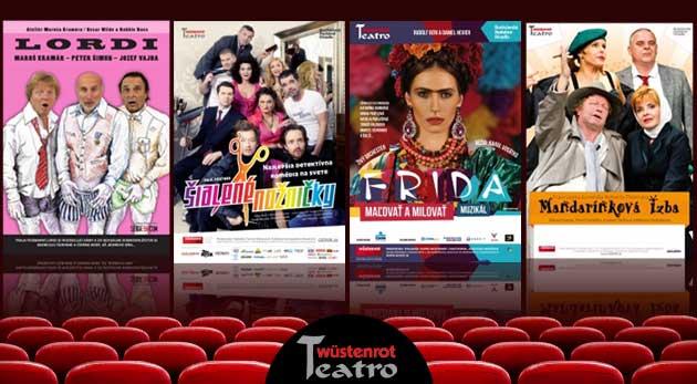 10 vstupeniek na predstavenia divadla Teatro Wüstenrot podľa vlastného výberu pre 1 osobu