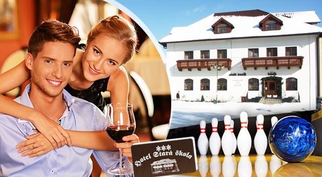 Tri romantické dni s vašou polovičkou v Moravskom krase v Hoteli Stará škola***