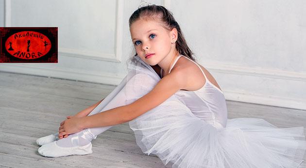 Hodina baletu v Akadémii Anora v Bratislave pre deti od 3 rokov