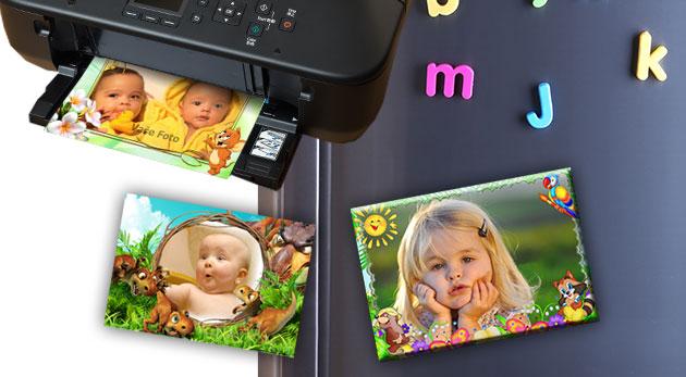 Fotomagnetky s detským motívom, tlač fotografií alebo fotoplátno pre zútulnenie vášho interiéru
