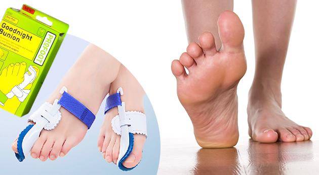 Fixátor pre správne usporiadané prsty na nohách a uvoľnenie od bolesti - 2 ks v balení