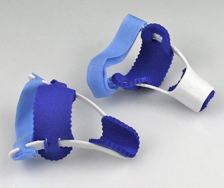 Prstový fixátor - 2 ks v balení na ľavú a pravú nohu modrý za 6,90 €