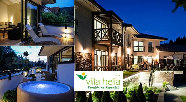 Obľúbený Penzión Villa Helia - dizajnové apartmány a privátny wellness počas 3 dní