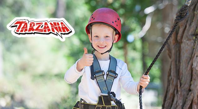 Skvelá zábava a adrenalín v lanovom parku Tarzánia Skalica pre malých aj veľkých